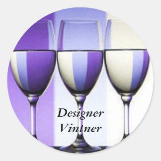 Etiquetas del vino del lagar de Vinter del Pegatina Redonda