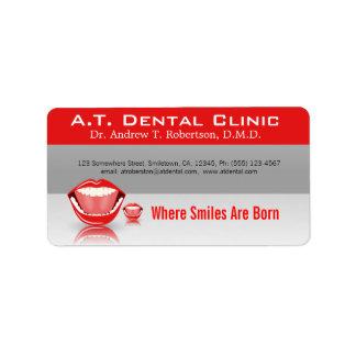 Etiquetas dentales profesionales del remite de la etiquetas de dirección