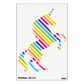 Etiquetas desprendibles de la pared del unicornio