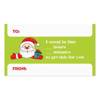 Etiquetas divertidas del regalo de vacaciones tarjetas de visita