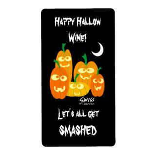 Etiquetas divertidas del vino de Halloween Etiquetas De Envío