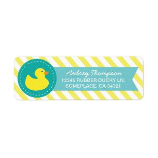 Etiquetas Ducky de goma del remite Etiquetas De Remite