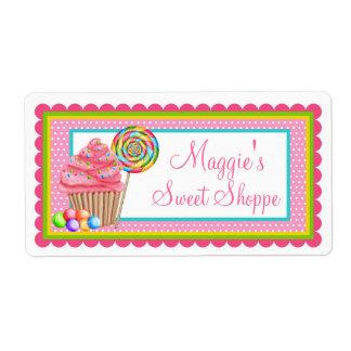 Etiquetas dulces del Shoppe de la magdalena Etiqueta De Envío