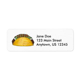 Etiquetas duras de Foodie del Tacos del Taco de Etiqueta De Remite