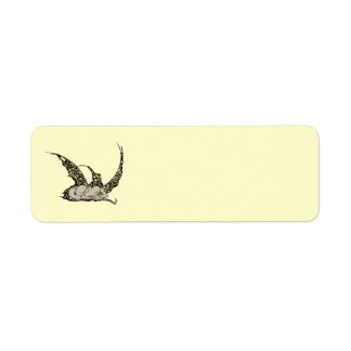 Etiquetas el dormir Dragonette (amarillo) Etiquetas De Remite