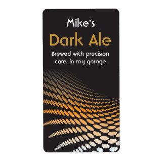 Etiquetas elaboradas cerveza caseras modernas de l etiqueta de envío
