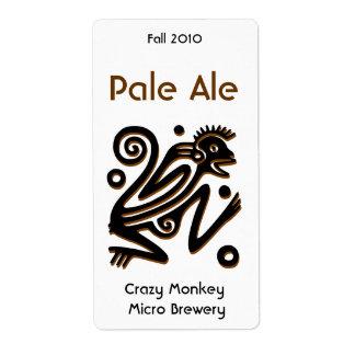 Etiquetas elaboradas cerveza hogar azteca de la ce etiquetas de envío