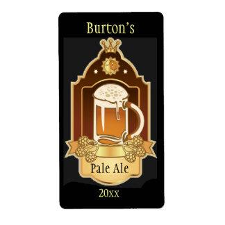 Etiquetas elaboradas cerveza hogar de la cerveza etiqueta de envío
