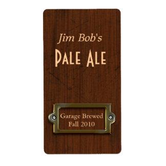 Etiquetas elaboradas cerveza hogar de madera de la etiqueta de envío