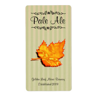 Etiquetas elaboradas cerveza hogar de oro de la ce etiquetas de envío