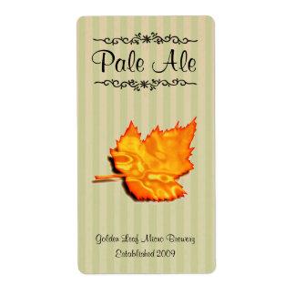 Etiquetas elaboradas cerveza hogar de oro de la ce etiqueta de envío