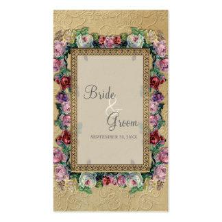 Etiquetas elegantes formales florales del regalo tarjetas de visita