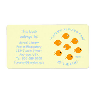 Etiquetas elementales lindas del libro de la etiquetas de envío