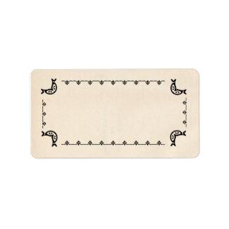 Etiquetas en blanco de la hierba del Vintage-Estil Etiqueta De Dirección