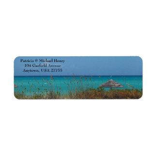 Etiquetas en la bahía esmeralda Bahamas Etiqueta De Remite