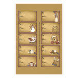 Etiquetas en una hoja - 10 diseños del regalo de S Tarjetas Informativas