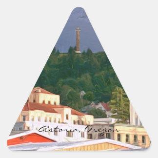 Etiquetas engomadas Astoria Oregon Colcomanias Trianguladas Personalizadas