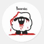 Etiquetas engomadas Baaarains de las ovejas del Pegatinas Redondas