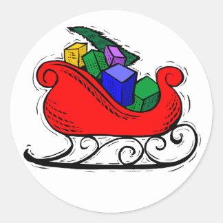 Etiquetas engomadas del diseño de la Navidad Classic Round Sticker