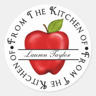 Etiquetas engomadas personalizadas Apple de la hor