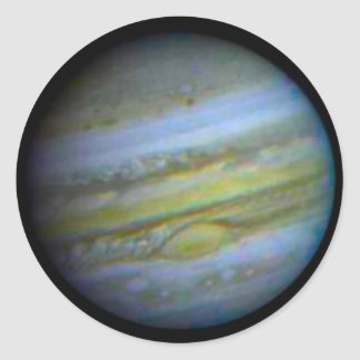 Etiquetas engomadas redondas de Júpiter del Pegatina Redonda