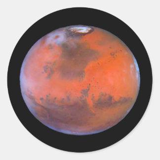 Etiquetas engomadas redondas de Marte del planeta Pegatina Redonda