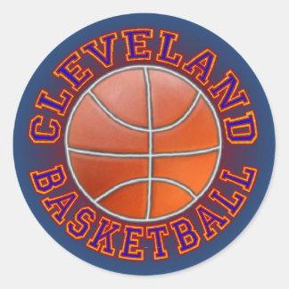 Etiquetas engomadas redondas del baloncesto de pegatina redonda