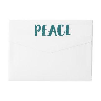 Etiquetas envueltas del día de fiesta de la paz de etiquetas envolventes de remitente