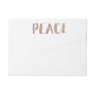 Etiquetas envueltas del día de fiesta de la paz de etiquetas postales