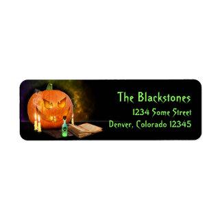 Etiquetas espeluznantes del remite de Halloween Etiquetas De Remite