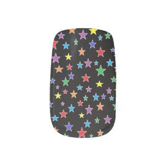 Etiquetas estrelladas de la uña de la noche stickers para uñas