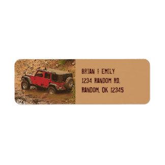 Etiquetas fangosas rojas rugosas del personalizado etiqueta de remite
