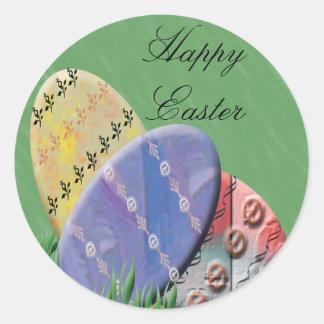 Etiquetas felices del regalo de Pascua Pegatina Redonda