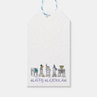 Etiquetas felices del regalo de vacaciones de etiquetas para regalos