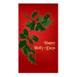 Etiquetas felices del regalo del navidad de los Ac Tarjeta De Visita
