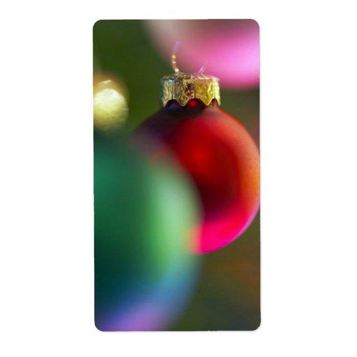 Etiquetas festivas de la decoración del navidad de etiquetas de envío