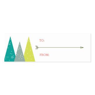 Etiquetas festivas del regalo del bosque del día plantillas de tarjeta de negocio