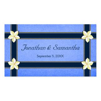 Etiquetas florales azules rústicas del favor del tarjetas de visita