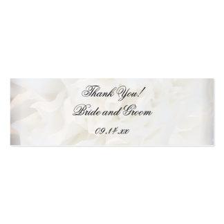 Etiquetas florales blancas del favor del boda tarjetas de visita mini