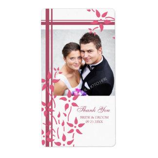 Etiquetas florales blancas rosadas del boda de la  etiquetas de envío