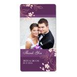 Etiquetas florales coralinas del boda de la foto d etiqueta de envío