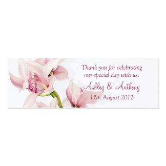 Etiquetas florales del favor del boda de la orquíd