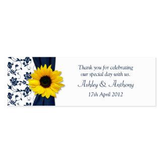 Etiquetas florales del favor del boda del damasco  plantilla de tarjeta de visita