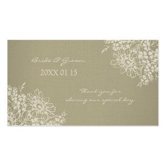 Etiquetas florales del favor del boda del vintage tarjetas de visita