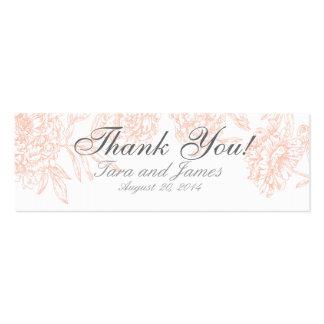 Etiquetas florales del favor del boda del vintage  tarjetas de visita mini