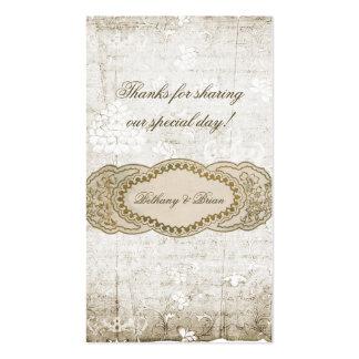 Etiquetas florales del regalo del favor del boda d plantilla de tarjeta de negocio