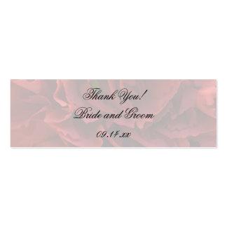 Etiquetas florales rojas del favor del boda tarjetas de visita mini