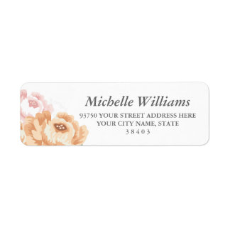 Etiquetas florales rústicas del remite etiqueta de remitente