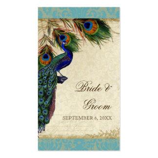Etiquetas formales del regalo del favor del pavo r tarjeta de negocio