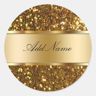 Etiquetas glamorosas del pegatina del monograma
